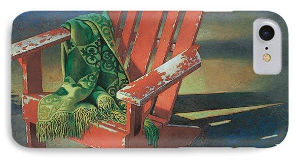 Red Adirondack Chair IPhone Case by Mia Tavonatti