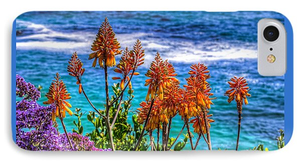IPhone Case featuring the photograph Red Aloe By The Pacific by Jim Carrell