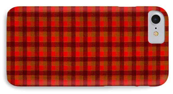 Red And Black Checkered Tablecloth Cloth Background IPhone Case