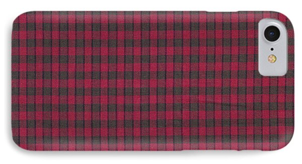 Red And Black Plaid Pattern Textile Background IPhone Case