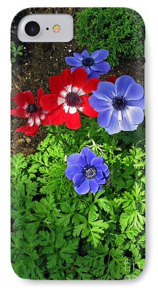 Red And Blue Anemones Phone Case by Ausra Huntington nee Paulauskaite