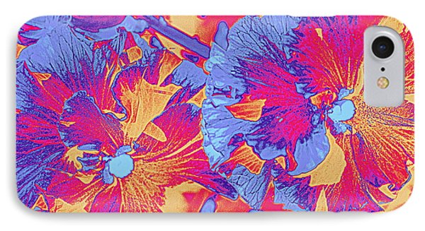 Red And Blue Pansies Pop Art IPhone Case