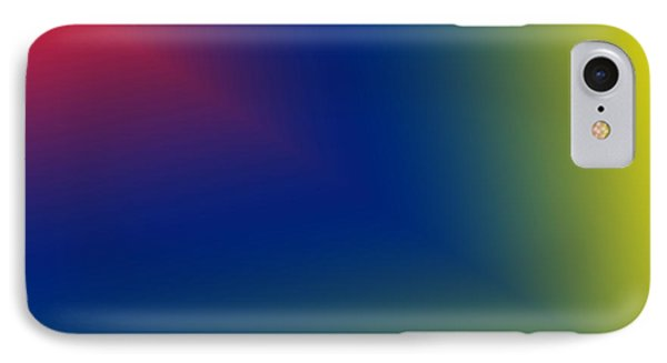 Red And Blue Star Beam On Yellow IPhone Case by Karen Nicholson