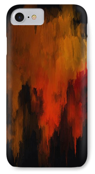 Red And Gold 1 IPhone Case by Michael Pickett