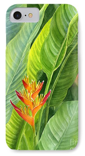 Red And Gold Heliconia IPhone Case by Sharon Freeman