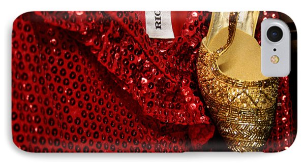 Red And Gold Holiday Phone Case by Toni Hopper
