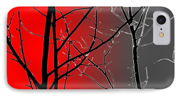 Red And Gray IPhone Case by Cynthia Guinn
