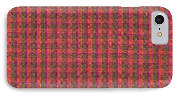 Red And Green Checked Plaid Pattern Cloth Background IPhone Case