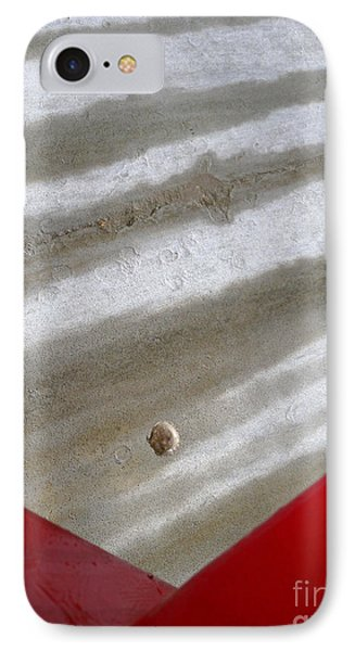 IPhone Case featuring the photograph Red And Grey Abstract by Robert Riordan