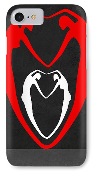 Red And White Heart IPhone Case by Naxart Studio