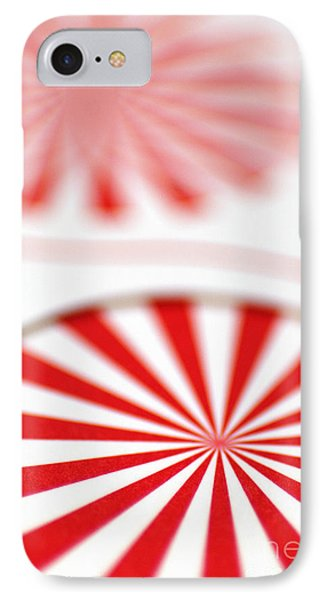 Red And White Pinwheels Phone Case by Amy Cicconi