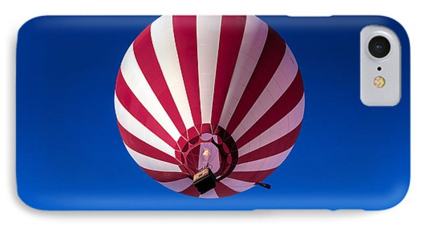 Red And White Striped Balloon IPhone Case by Robert Bales