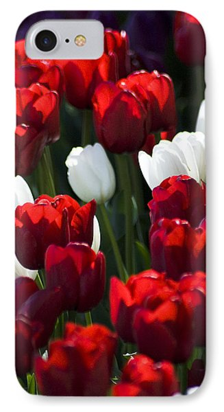 IPhone Case featuring the photograph Red And White Tulips by Yulia Kazansky
