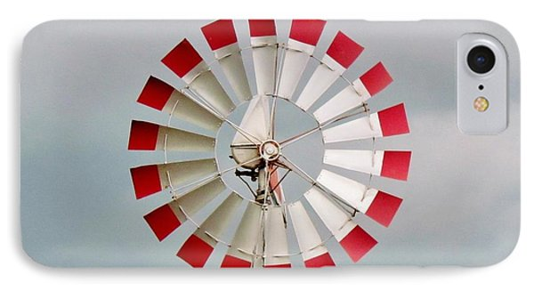 IPhone Case featuring the photograph Red And White Windmill by Cynthia Guinn