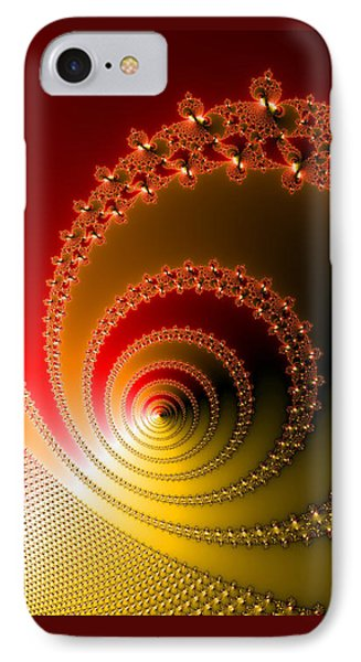 Red And Yellow Abstract Fractal Phone Case by Matthias Hauser