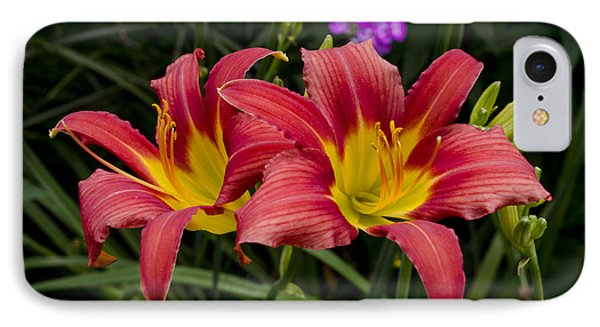 IPhone Case featuring the photograph Red And Yellow Lily by Maria Janicki