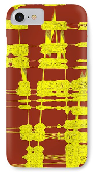 Red And Yellow Wave No 3 IPhone Case by Ben and Raisa Gertsberg