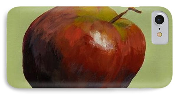 Red Apple On Green IPhone Case