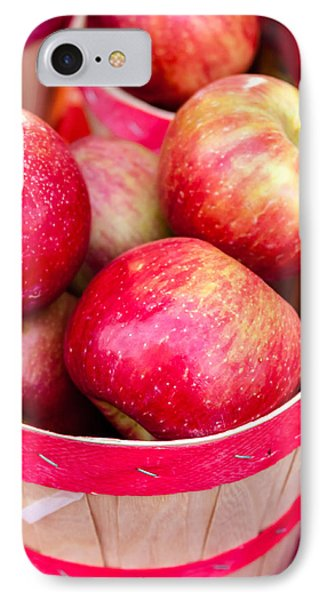 Red Apples In Baskets At Farmers Market Phone Case by Teri Virbickis