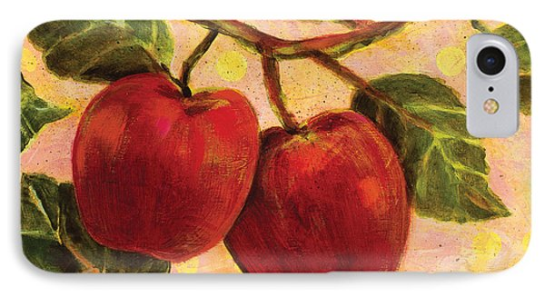 Red Apples On A Branch IPhone Case by Jen Norton