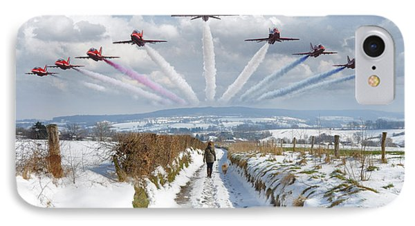 Red Arrows Over Epen Phone Case by Nop Briex