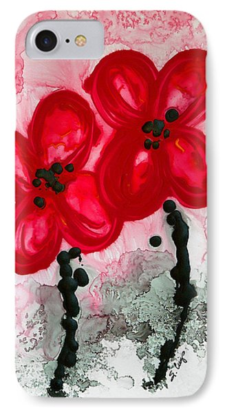 Red Asian Poppies IPhone Case by Sharon Cummings