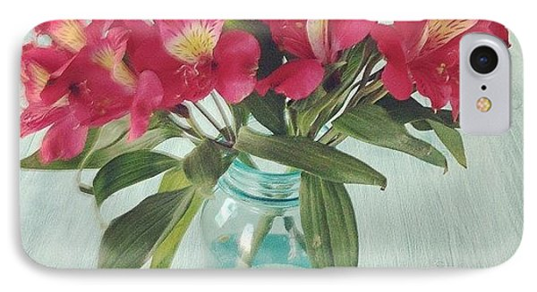Red Astramaris Flowers IPhone Case by Kay Pickens