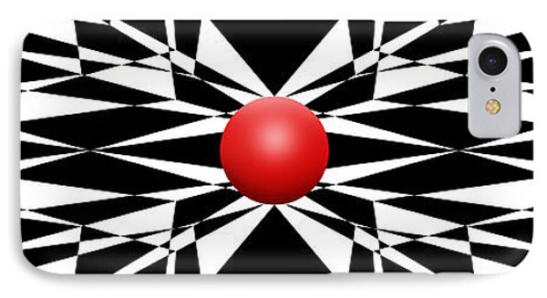 Red Ball 16 Panoramic IPhone Case by Mike McGlothlen