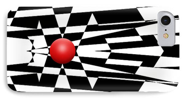 Red Ball 24 IPhone Case by Mike McGlothlen