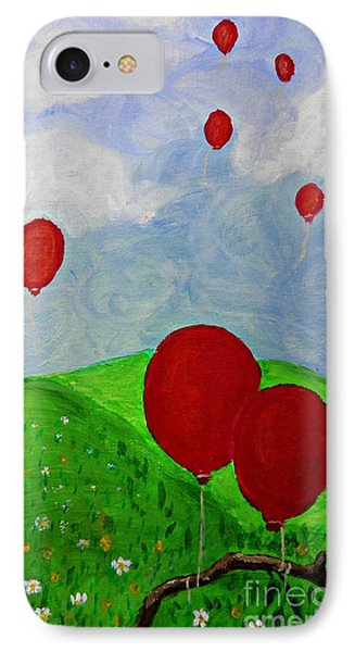 Red Balloons IPhone Case by Sarah Loft