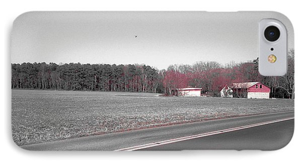 Red Barn  IPhone Case by Amazing Photographs AKA Christian Wilson