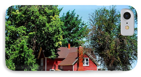 Red Barn And Trees IPhone Case by Matt Harang