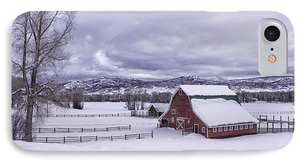 Red Barn At Lamb Ranch IPhone Case by Kristal Kraft
