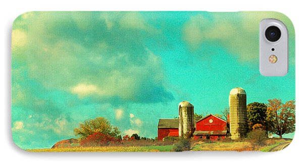Red Barn Blue Sky IPhone Case by Brooke T Ryan