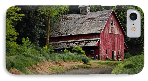 Red Barn - County Road  IPhone Case
