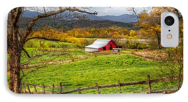 Red Barn Phone Case by Debra and Dave Vanderlaan