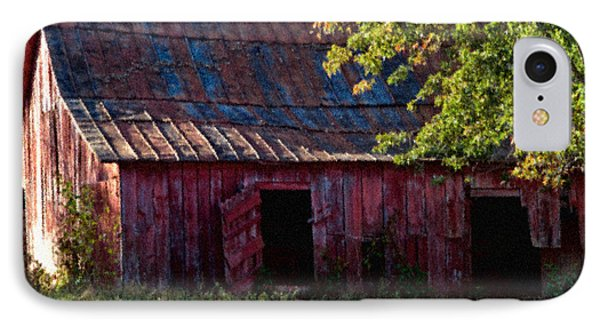 Red Barn Eleven IPhone Case by Ken Frischkorn