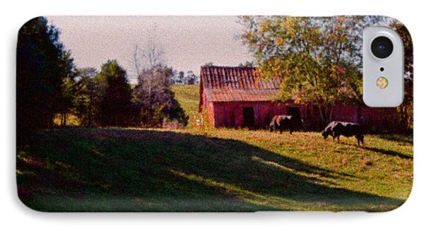 Red Barn Four IPhone Case by Ken Frischkorn