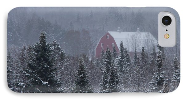 Red Barn In Maine Phone Case by Jack Zievis