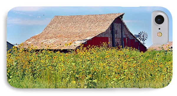 Red Barn In Summer IPhone Case by Clarice  Lakota