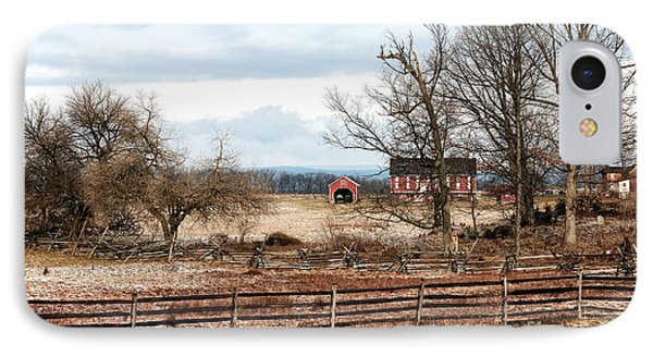 Red Barn In The Field IPhone Case