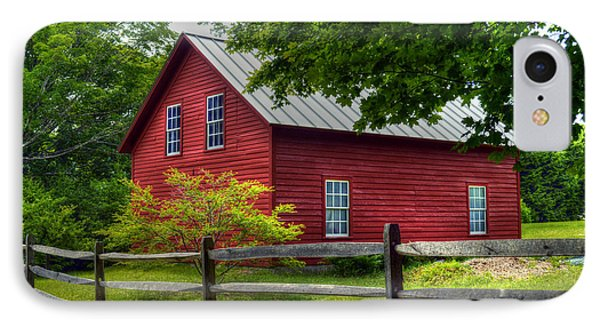 Red Barn In Tyringham - Berkshire County IPhone Case