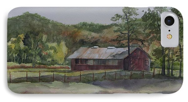 Red Barn Phone Case by Janet Felts