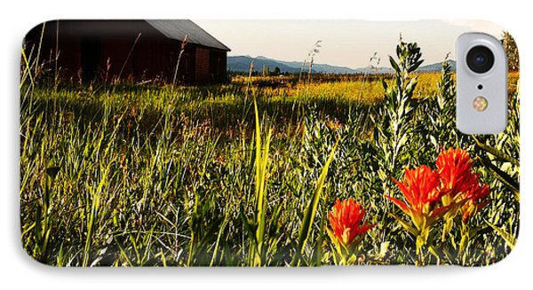 IPhone Case featuring the photograph Red Barn by Meghan at FireBonnet Art
