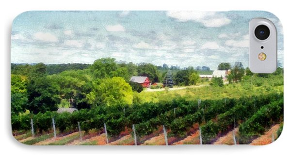 Red Barn On Old Mission Peninsula IPhone Case by Michelle Calkins