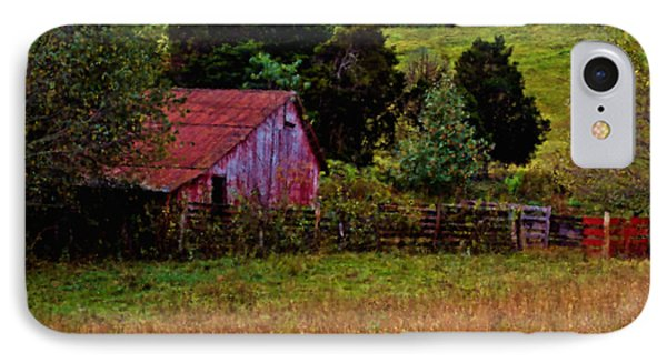 Red Barn One IPhone Case by Ken Frischkorn