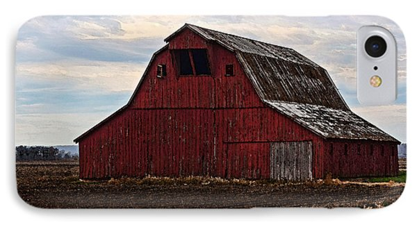 Red Barn Photoart Phone Case by Debbie Portwood