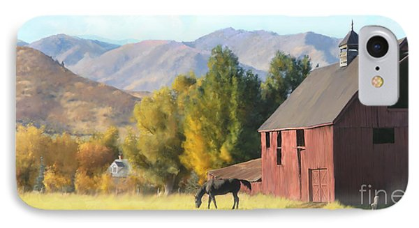 Red Barn IPhone Case by Rob Corsetti