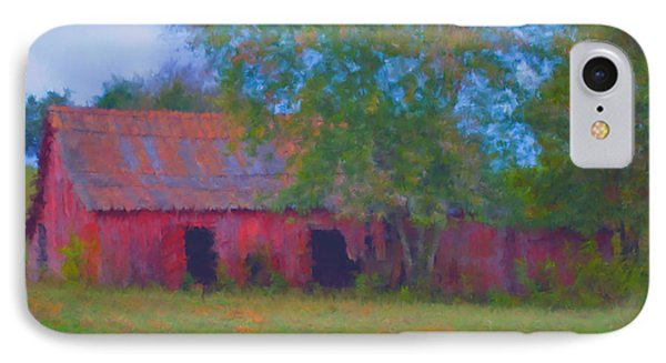 Red Barn Seven IPhone Case by Ken Frischkorn