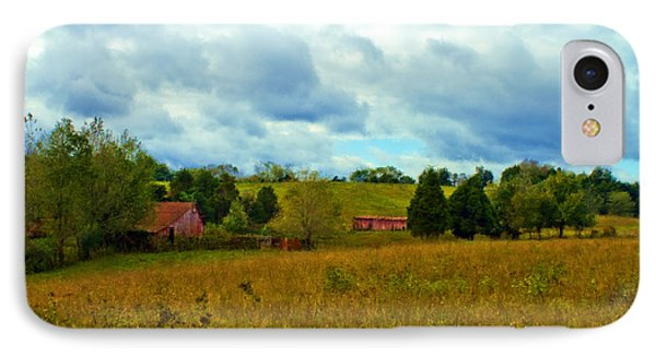Red Barn Six IPhone Case by Ken Frischkorn